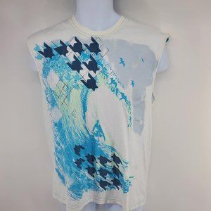 Hybrid Surfer Tank - Blue and White - Size M